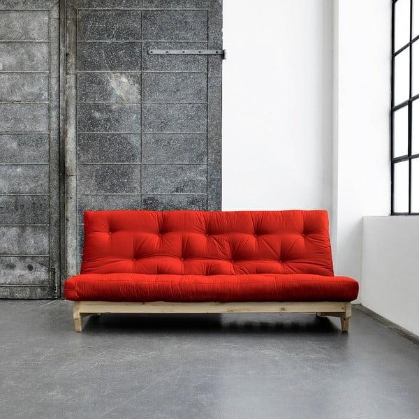 Sofa rozkładana Karup Fresh Natural/Red