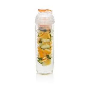 Pomarańczowa butelka z sitkiem na owoce XD Design Trita