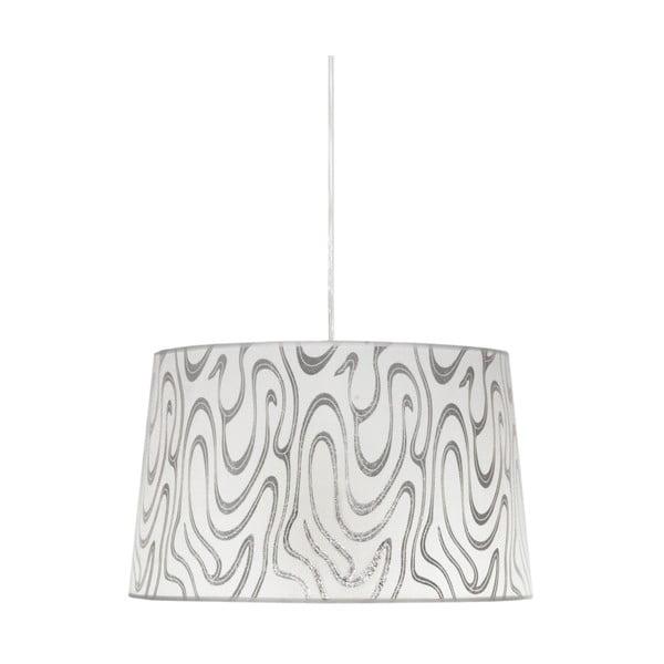Lampa sufitowa Tiger, biało-srebrna