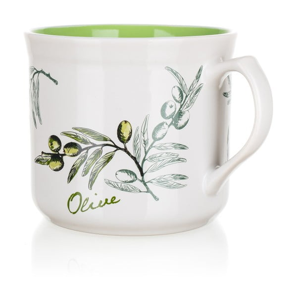 Kubek ceramiczny Banquet Olives, 630 ml