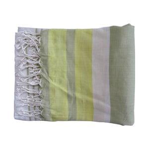 Seledynowy ręcznie tkany ręcznik z bawełny premium Rio,100x180 cm