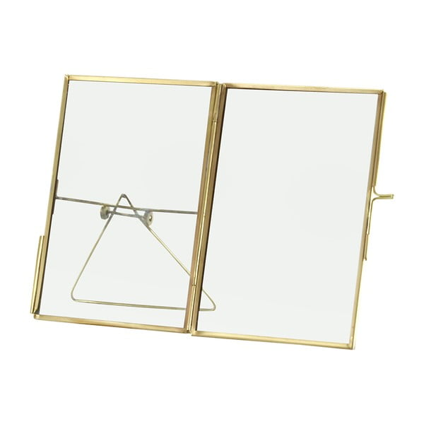 Szklana ramka na zdjęcia Large Brass