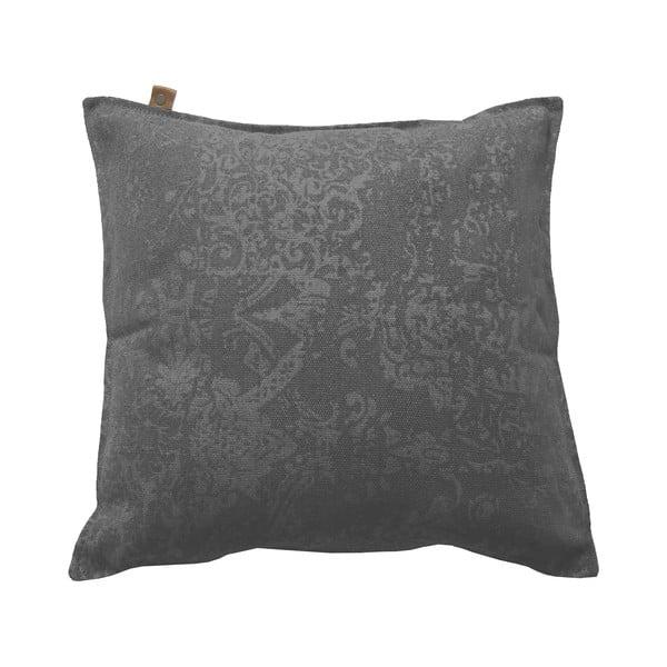 Antracytowa poduszka Overseas Vintage, 60x60 cm