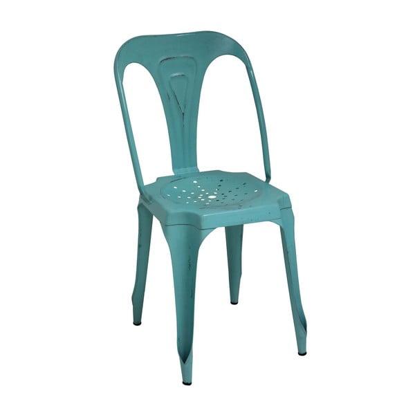 Metalowe krzesło Turquoise