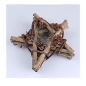 Naturalny świecznik rattanowy Dakls