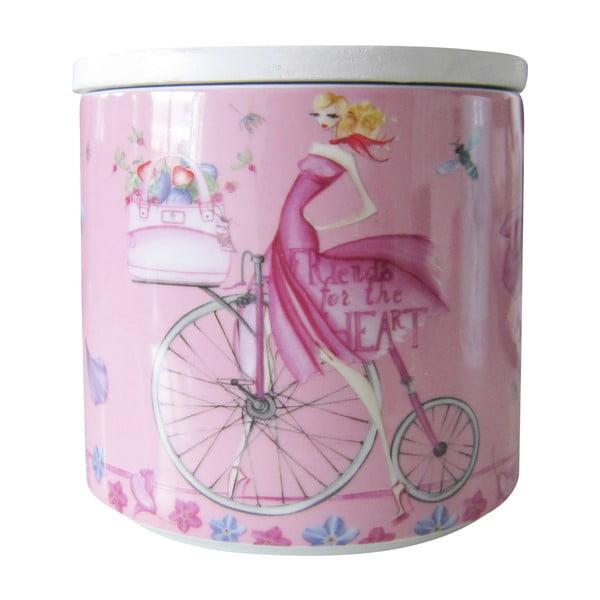 Porcelanowy pojemnik na ciastka Pink Biscuits