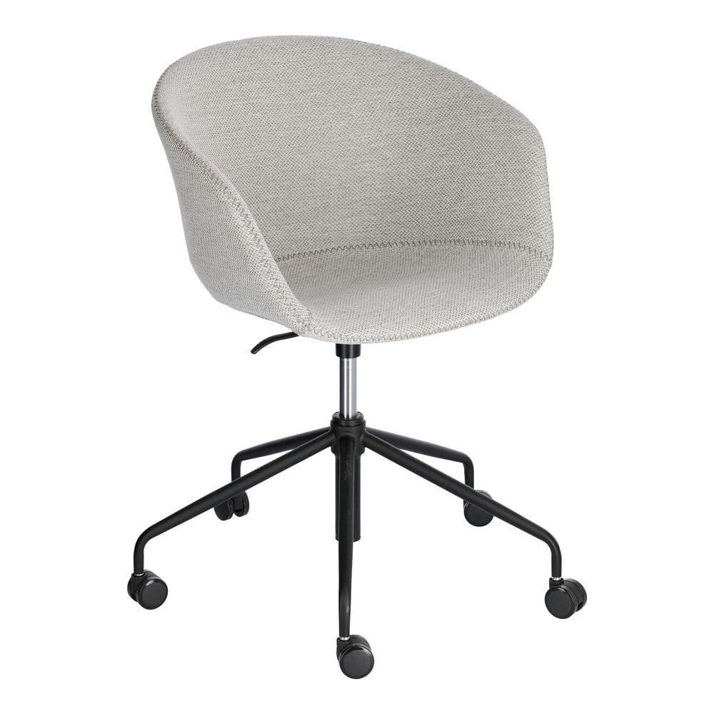 Jasnoszare krzesło biurowe La Forma Zadine