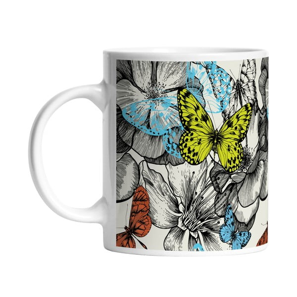 Ceramiczny kubek Beautiful Butterflies, 330 ml