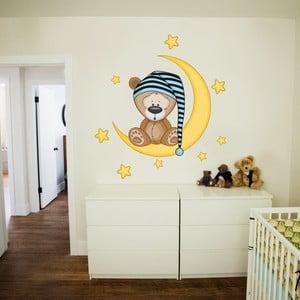 Naklejka dekoracyjna na ścianę Słodkich snów (niebieska)