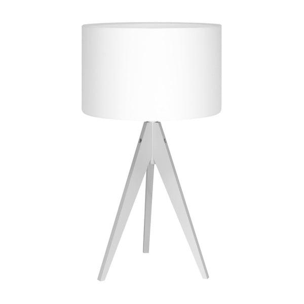 Biała lampa stołowa Artist, biała lakierowana brzoza, Ø 33 cm