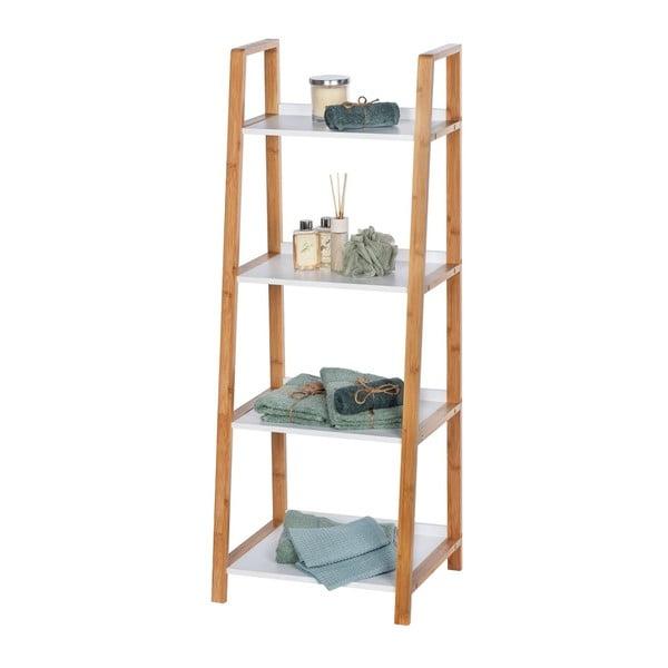 Bambusowy regał łazienkowy z 4 półkami Wenko Finja