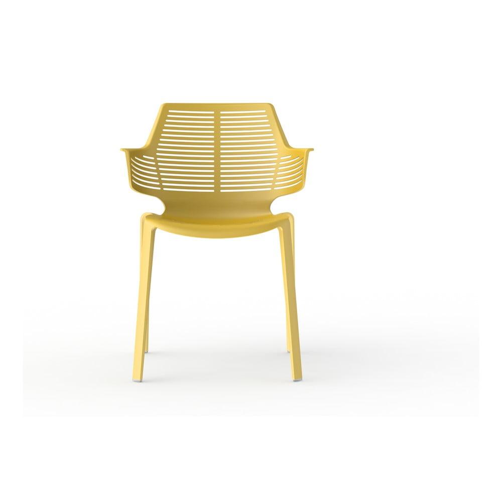 Zestaw 2 żółtych krzeseł ogrodowych Resol Ikona