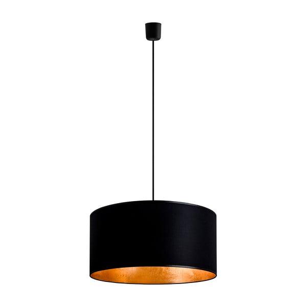 Czarna lampa wisząca z elementami w kolorze złota Sotto Luce MIKA,Ø50cm