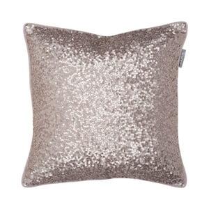 Różowa poduszka Walra Glitter, 45x45cm