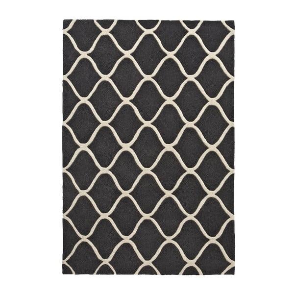 Szary ręcznie tkany dywan wełniany Think Rugs Elements, 120x170 cm