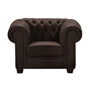 Brązowy fotel skórzany Max Winzer Chandler