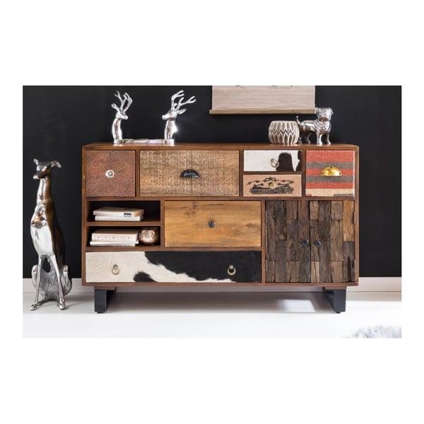 Komoda z 7 szufladami z litego drewna mango Skyport PATNA, wys. 76 cm