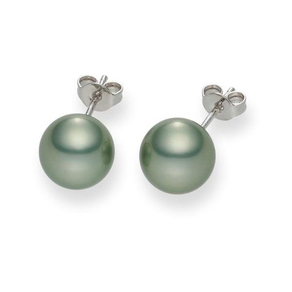 Jasnozielone kolczyki perłowe Mystic Jade