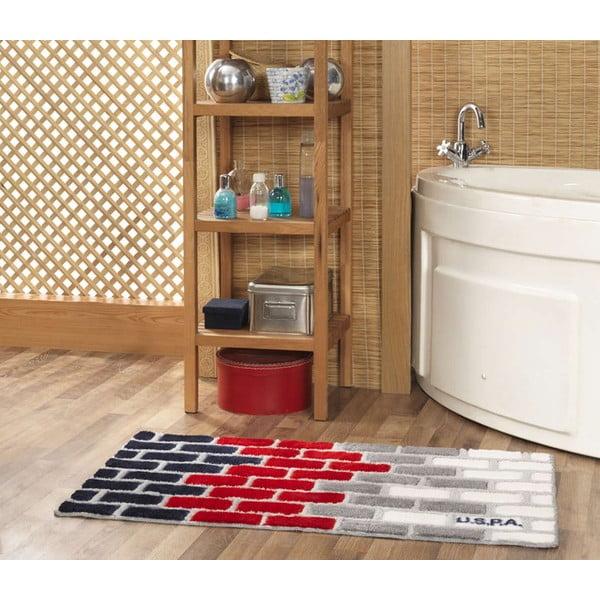 Dywanik łazienkowy US Polo Brick, 60x100 cm