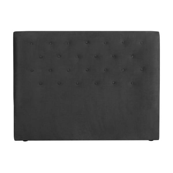 Ciemnoszary zagłówek łóżka Windsor & Co Sofas Astro, 140x120 cm