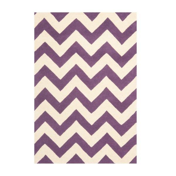 Dywan wełniany Crosby Purple, 121x182 cm