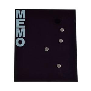 Szklana tablica magnetyczna Ewax Black Board, 35 x 42 cm