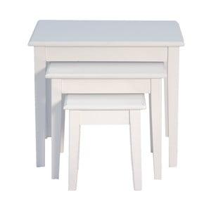 Zestaw 3 stolików White Side Tables