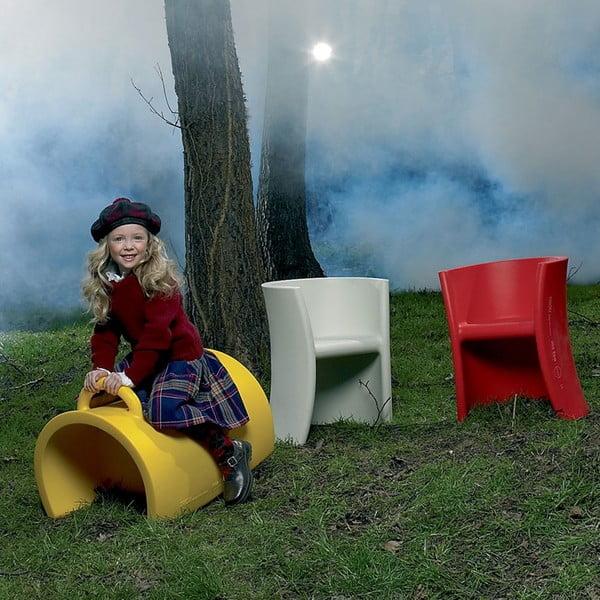 Wielofunkcyjne krzesło Trioli, żółte