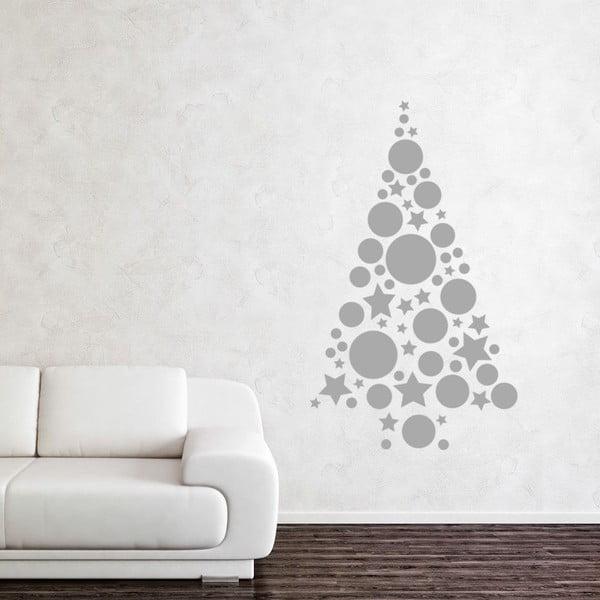 Naklejka Silver Christmas Tree Balls