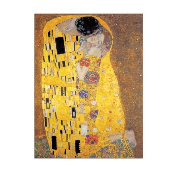 Obraz Gustav Klimt - Pocałunek, 50x70 cm