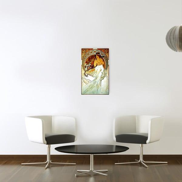 Obraz Alfons Mucha - Muzyka, 30x50 cm