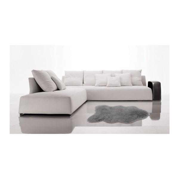 Szary dywan ze skóry ekologicznej Floorist Soft Bear, 90x140 cm