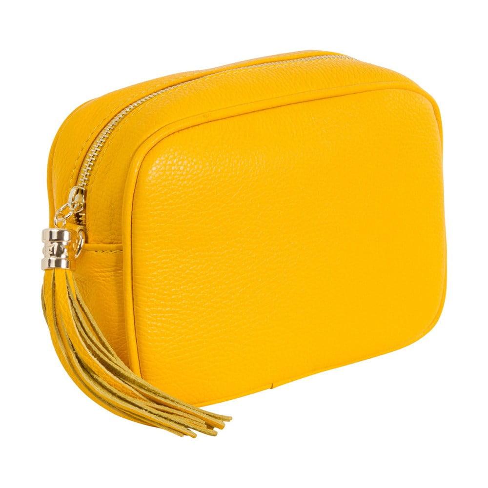 3bd2679a6bd27 Mała żółta torebka skórzana Andrea Cardone Pezzo ...