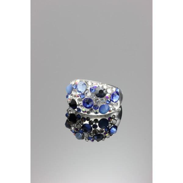 Pierścionek Ring Swarovski Elements Saphire, rozmiar L