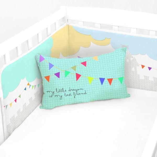 Ochraniacz do łóżeczka Dragon, 60x60x60 cm