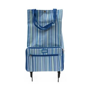 Niebieska torba na kółkach Sabichi Stripe