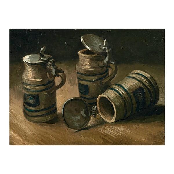 Reprodukcja obrazu Vincenta van Gogha - Beer Tankards, 40x30 cm