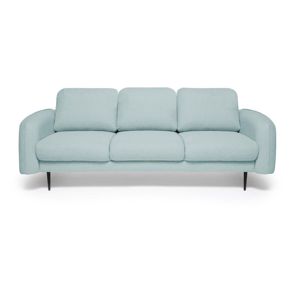Jasnoturkusowa sofa 3-osobowa Vivonita Skolm