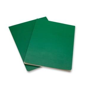 Zestaw 2 zielonych bloków Moleskine Volant