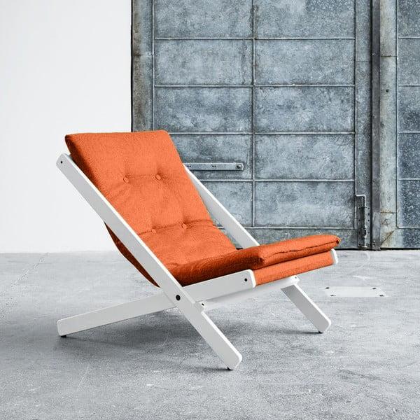 Fotel składany Karup Boogie White/Orange