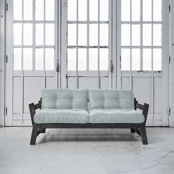 Sofa rozkładana Karup Step Black/Sky Blue