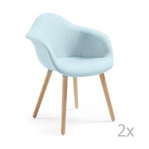 Zestaw 2 niebieskich krzeseł La Forma Kenna