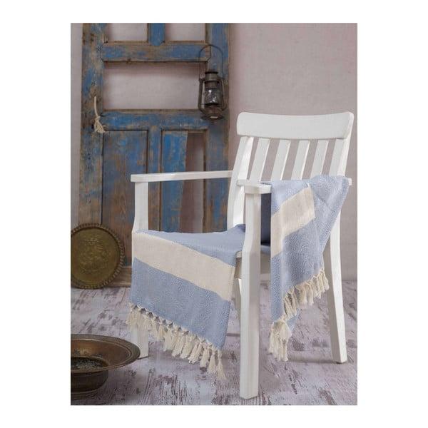 Ręcznik hammam Elmas Sky Blue, 100x180 cm