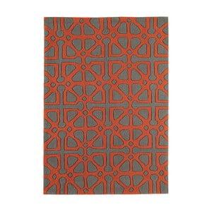 Czerwono-szary dywan Asiatic Carpets Harlequin Floorist, 170x120 cm