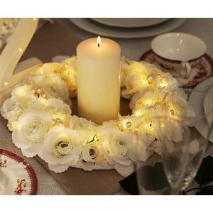Wieniec ślubny z lampkami LED Rose Pearl