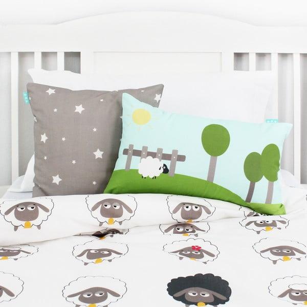 Dwustronna poszewka bawełniana na poduszkę Baleno Little Sheep, 50x30 cm