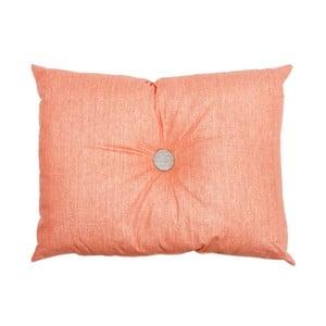 Poduszka Button Orange, 60x45 cm