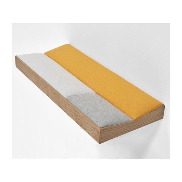 Snug Orange, wyściełana półka dębowa 60 cm