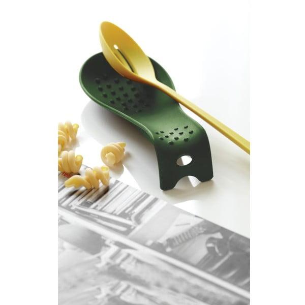 Podstawka do odkładania łyżki Steel Function Roma, zielona