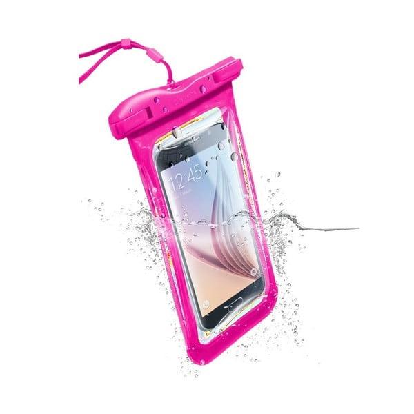 Etui na telefon, wodoszczelne, uniwersalne Cellularline VOYAGER, różowe